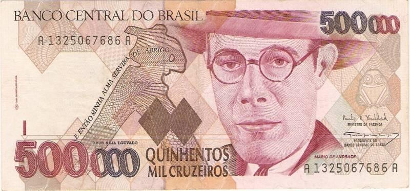 Catálogo Vieira Nº 231 - 500.000 Cruzeiros (Mario de Andrade) - Numismática Vieira