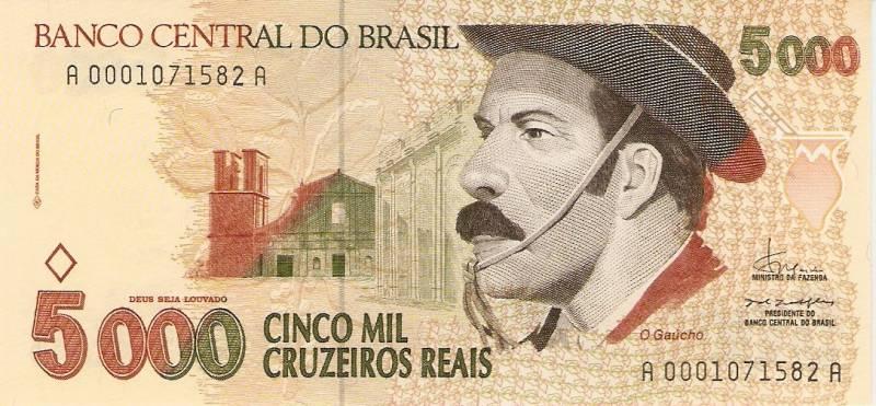 Catálogo Vieira Nº 239 - 5000 Cruzeiros Reais (Gaúcho) - Numismática Vieira