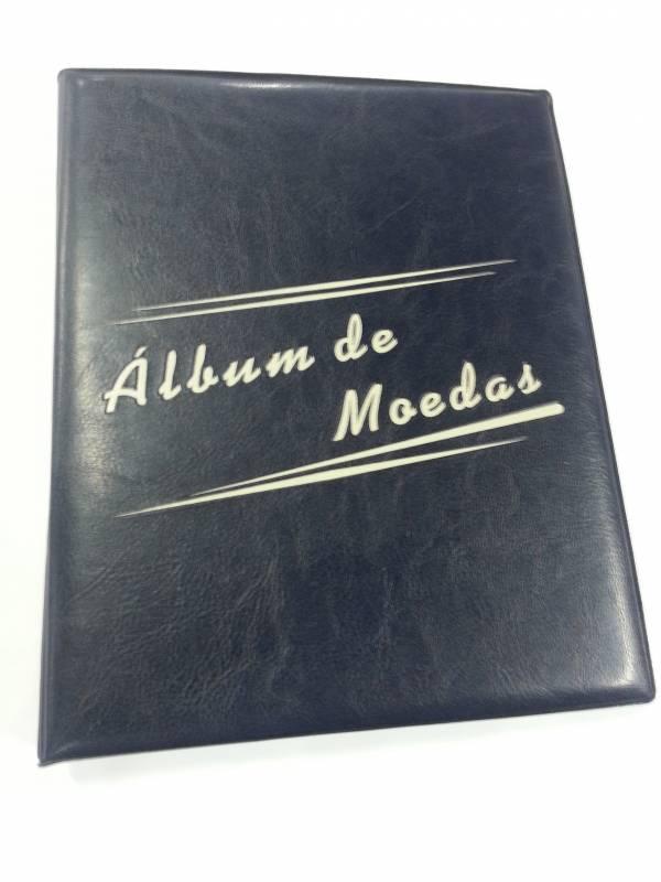 Álbum pequeno de Moedas com capacidade para 84 moedas. - Numismática Vieira