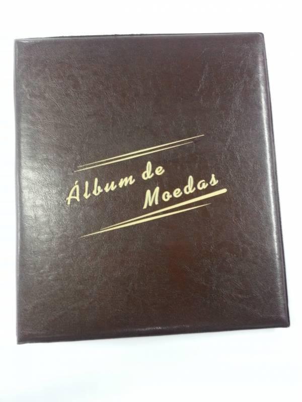 Álbum Grande para moedas com capacidade para 100 moedas. - Numismática Vieira
