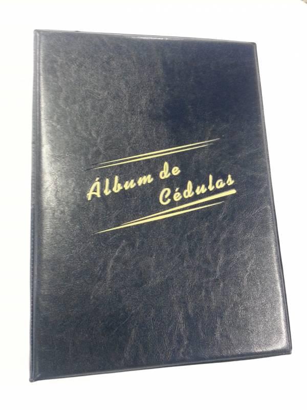 Álbum Grande de Cédulas com capacidade para 80 cédulas. - Numismática Vieira