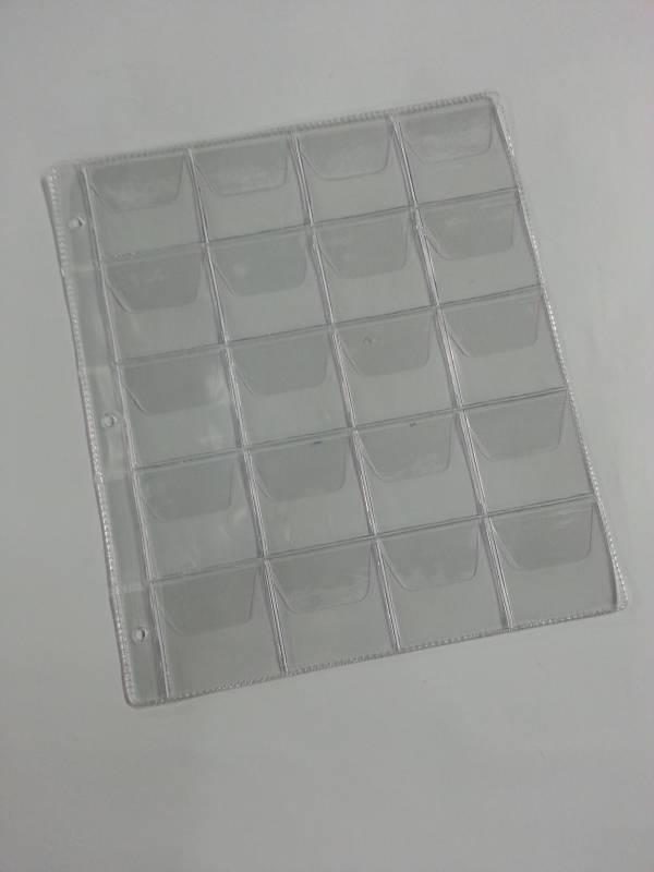 Folha para álbum grande de moedas de 20 Divisões. - Numismática Vieira