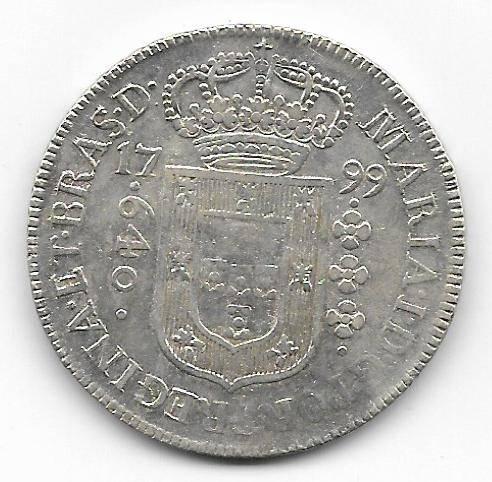 Catálogo Vieira Nº 276 - 640 Réis 1799B - Numismática Vieira