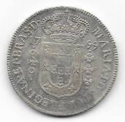 Catálogo Vieira Nº 276 - 640 Réis 1799B