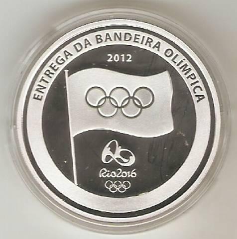 Catálogo Vieira Nº 615 - 5 reais (Comemorativa da Entrega da Bandeira Olímpica) - Numismática Vieira