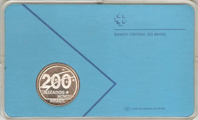Catálogo Vieira Nº 594 - 200 Cruzados Novos (Cent. da Proclamação da República) - Numismática Vieira