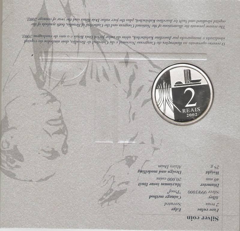 Catálogo Vieira Nº 603 - 2 Reais (Homenagem aos 100 Anos de Juscelino Kubitschek) - Numismática Vieira