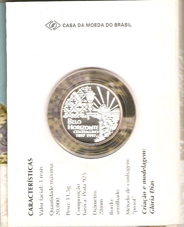 Catálogo Vieira Nº 601 - 3 Reais (Belo Horizonte) - Numismática Vieira