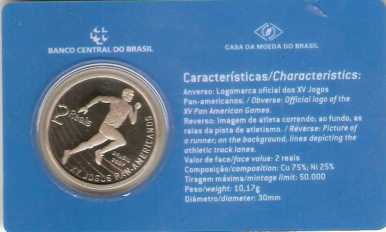 Catálogo Vieira Nº 96 - 2 Reais (Jogos Pan-Americanos) (Níquel) - Numismática Vieira