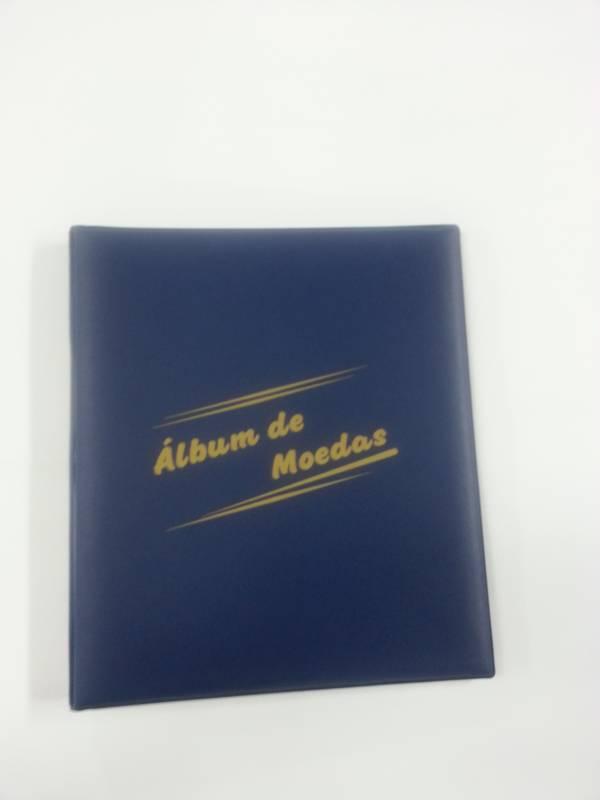 Álbum grande para moedas com capacidade para 150 moedas. - Numismática Vieira