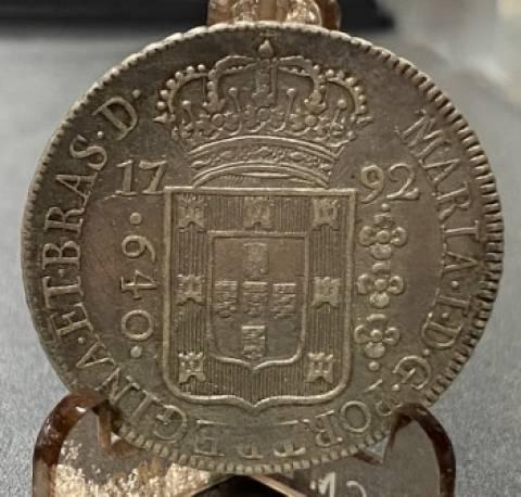 Catálogo Vieira Nº 268 - 640 Réis 1792R - Numismática Vieira