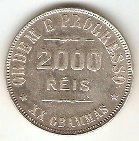 Catálogo Vieira Nº 552 - 2000 Réis - Numismática Vieira