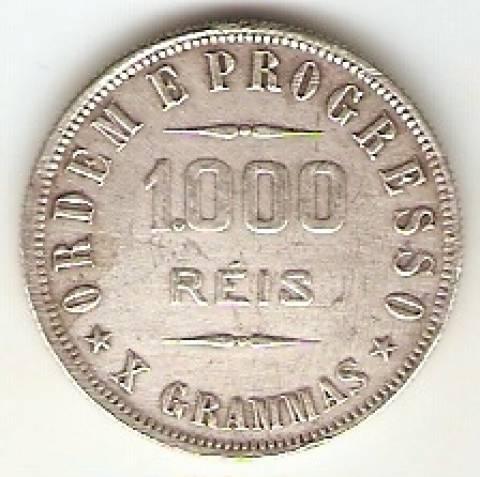 Catálogo Vieira Nº 557 - 1000 Réis - Numismática Vieira