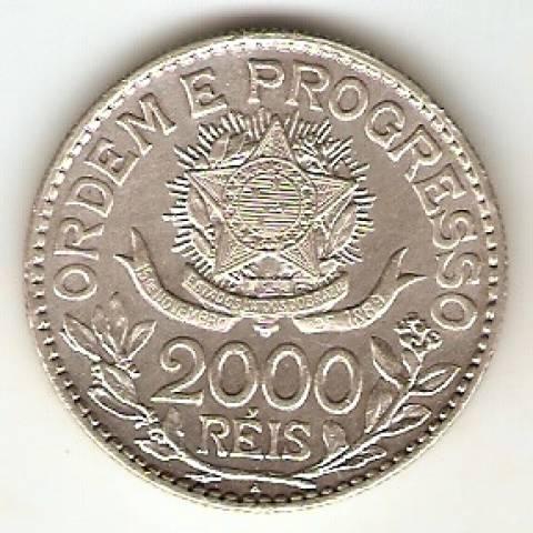 Catálogo Vieira Nº 574 - 2000 Réis (Estrela Solta - 1913) - Numismática Vieira