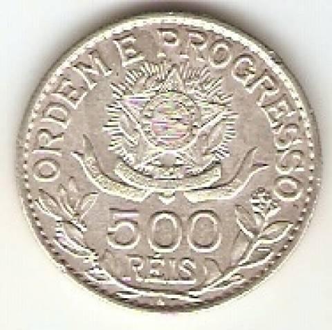 Catálogo Vieira Nº 576 - 500 Réis (Estrela Solta) - Numismática Vieira