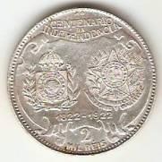 Catálogo Vieira Nº 577 - 2000 Réis (Comemorativa ao 1º Cent. da Independência do Brasil) | Numismática Vieira