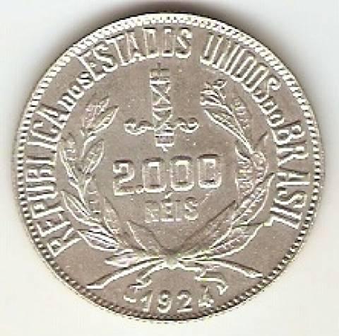 Catálogo Vieira Nº 578 - 2000 Réis - Numismática Vieira
