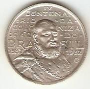 Catálogo Vieira Nº 587 - 2000 Réis (Comemorativa ao 4º Cent. de São Vicente)