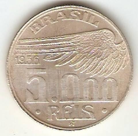 Catálogo Vieira Nº 589 - 5000 Réis (Santos Dumond) - Numismática Vieira