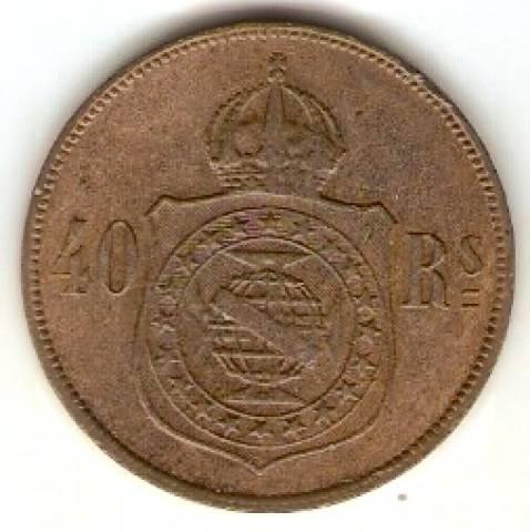 Catálogo Vieira Nº 1 - 40 Réis (Bronze) - Numismática Vieira