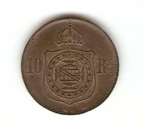 Catálogo Vieira Nº 13 - 10 Réis (Bronze) - Numismática Vieira
