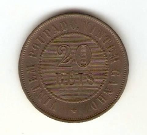 Catálogo Vieira Nº 43 - 20 Réis (Bronze)