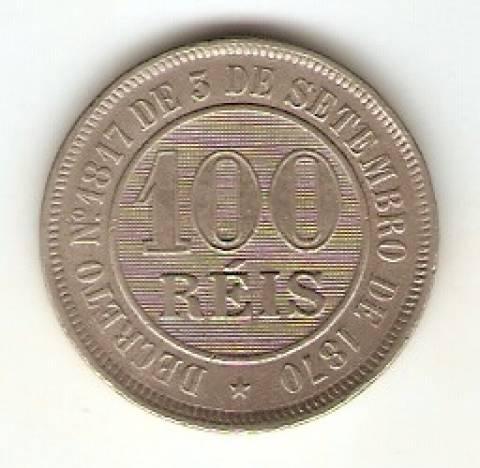 Catálogo Vieira Nº 21 - 100 Réis (Níquel) - Numismática Vieira
