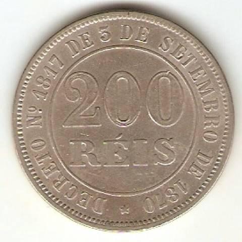 Catálogo Vieira Nº 23 - 200 Réis (Níquel) - Numismática Vieira