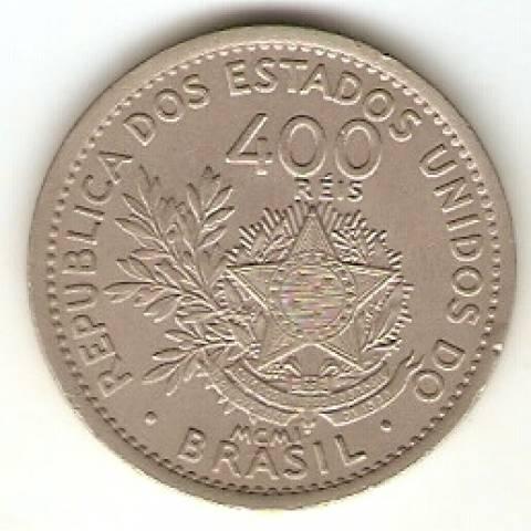 Catálogo Vieira Nº 56 - 400 Réis (Níquel) - Numismática Vieira