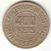 Catálogo Vieira Nº 122 - 400 Réis (Níquel) | Numismática Vieira