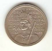 Catálogo Vieira Nº 125 - 100 Réis (Série Vicentina - Índio) (Níquel)