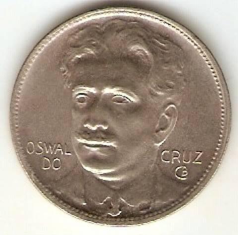 Catálogo Vieira Nº 126 - 400 Réis (Oswaldo Cruz) (Níquel) - Numismática Vieira