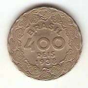 Catálogo Vieira Nº 138 - 400 Réis (Getúlio Vargas) (Níquel)