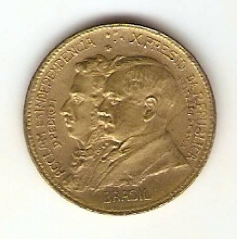 Catálogo Vieira Nº 2 - 500 Réis (1º Cent. da Ind. do Brasil) (D. Pedro I e Epitácio Pessoa) - Numismática Vieira