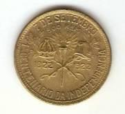 Catálogo Vieira Nº 2 - 500 Réis (1º Cent. da Ind. do Brasil) (D. Pedro I e Epitácio Pessoa)