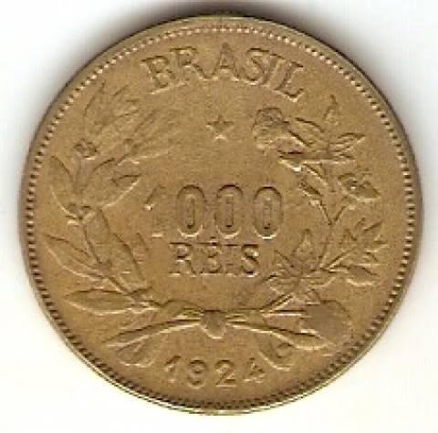 Catálogo Vieira Nº 3 - 1000 Réis (Símbolo da Fortuna) - Numismática Vieira