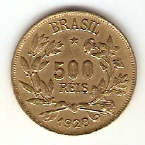 Catálogo Vieira Nº 12 - 500 Réis (Símbolo da Fortuna) - Numismática Vieira