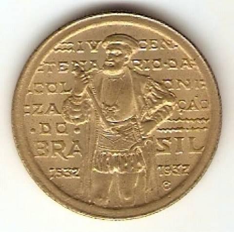 Catálogo Vieira Nº 14 - 1000 Réis (4º Cent. de São Vicente) (Martim Afonso de Souza) ) - Numismática Vieira