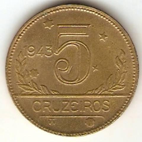 Catálogo Vieira Nº 2 - 5 Cruzeiros (Mapa do Brasil) - Numismática Vieira