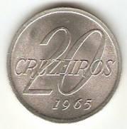Catálogo Vieira Nº 80 - 20 Cruzeiros (Mapa do Brasil)