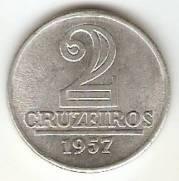 Catalogo Vieira No 82   2 Cruzeiros Armas da Republica