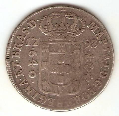Catálogo Vieira Nº 242 - 640 Réis - Numismática Vieira