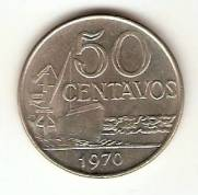 Catalogo Vieira No 118   50 Centavos Efigie da Republica Cupro Niquel