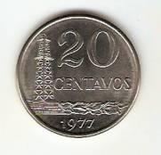 Catálogo Vieira Nº 128 - 20 Centavos (Efígie da República) (Aço)