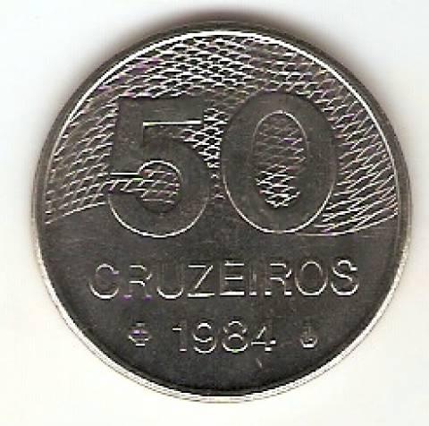 Catálogo Vieira Nº 170 - 50 Cruzeiros (Traçado do Plano Piloto de Brasília) (Aço) - Numismática Vieira
