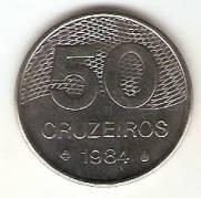 Catálogo Vieira Nº 170 - 50 Cruzeiros (Traçado do Plano Piloto de Brasília) (Aço)