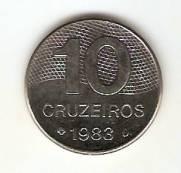 Catálogo Vieira Nº 183 - 10 Cruzeiros (Mapa do Brasil) (Aço)