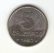 Catálogo Vieira Nº 188 - 5 Cruzeiros (Café) (Aço)