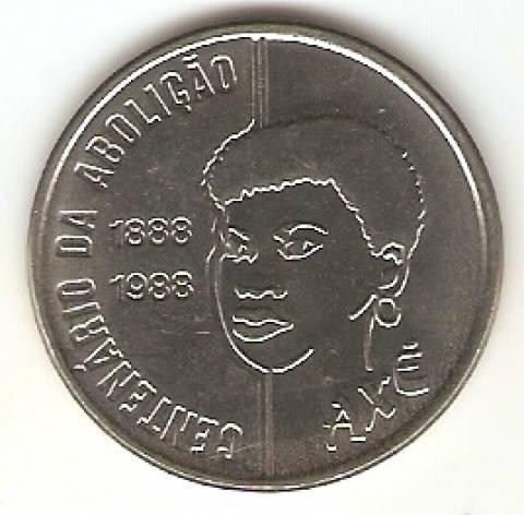 Catálogo Vieira Nº 25 - 100 Cruzados (100 Anos da Abolição Mulher) (Reforma Monetária) (Aço) - Numismática Vieira