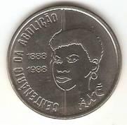 Catálogo Vieira Nº 25 - 100 Cruzados (100 Anos da Abolição Mulher) (Reforma Monetária) (Aço)   Numismática Vieira